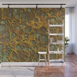 Dark Olive Green4 Gold Marble Wall Mural