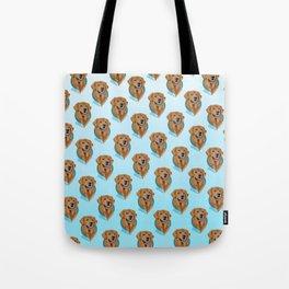 Golden Retriever Print Tote Bag