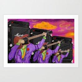 Guitar Faces in G major Art Print