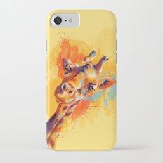 Hello - giraffe portrait Slim Case iPhone 7