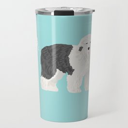 old english sheepdog farting dog cute funny dog gifts pure breed dogs Travel Mug