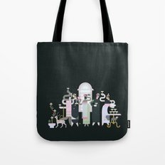 Fashionable Ladies with their Very Exotic Pets Tote Bag