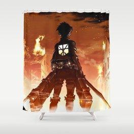 """Hero"" Attack on Titan Shower Curtain"