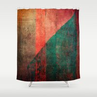 mucha Shower Curtains featuring A Idade da Terra (The Age of the Earth) by Fernando Vieira