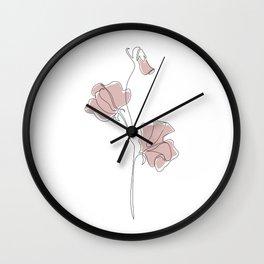 Blush Sweet Pea Wall Clock