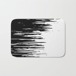 Carefree Black and White Bath Mat