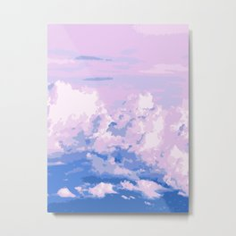 Cotton Candy in Sky Metal Print