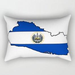El Salvador Map with Salvadoran Flag Rectangular Pillow