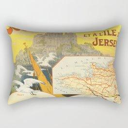 vintage trtavel poster Rectangular Pillow