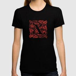 Ornate Initials Two - X T-shirt