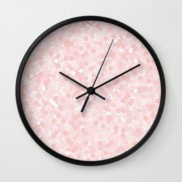 Rose Quartz Polka Dot Bubbles Wall Clock