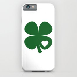 Clover Heart Irish Green St. Patrick's Day Shamrock iPhone Case