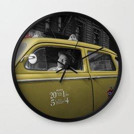 Vintage Taxi 5 Wall Clock