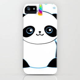 Pandacorn in the Snow iPhone Case