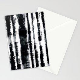 Tie-Dye Shibori Stripe BW Stationery Cards