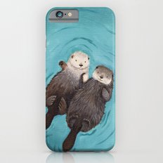 Otterly Romantic - Otters Holding Hands Slim Case iPhone 6