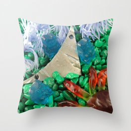 Lost in gummy space Throw Pillow