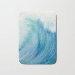 Watercolor Wave Bath Mat