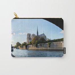 Notre Dame de Paris from under the Pont de l'Archeveche - Paris Carry-All Pouch