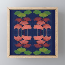 Ginkgo Leaf gouache painting design art print Framed Mini Art Print