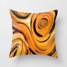 Golden Zing Throw Pillow