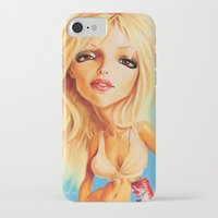 britney spears iPhone & iPod Cases featuring Britney Spears by Patrick Dea