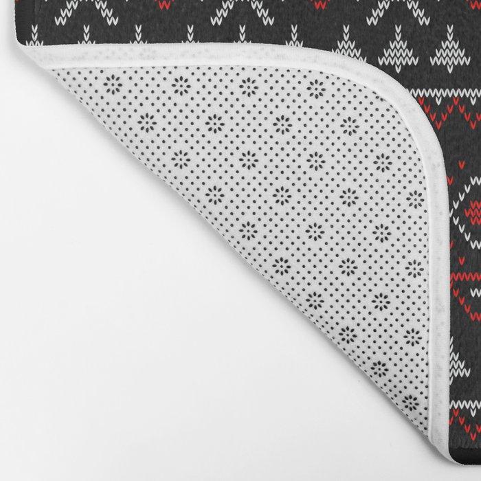 Scandinavian, knitting Bath Mat