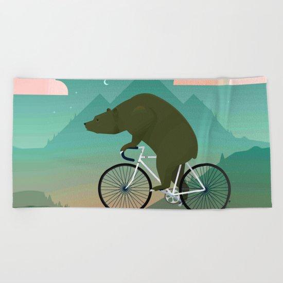 Bear Rider Beach Towel