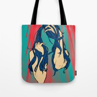 cancer Tote Bags featuring Cancer by Rendra Sy