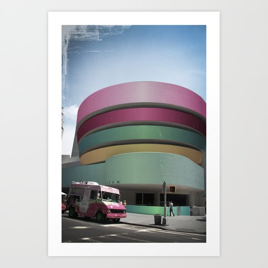 Bubble Gum Guggenheim Art Print