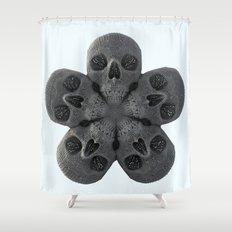 Skull Mandala Test No.2 Shower Curtain