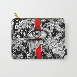 Red inked Eye Carry-All Pouch
