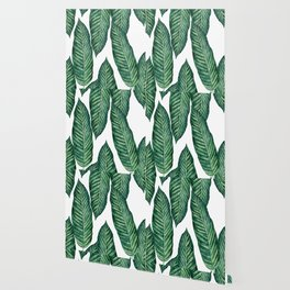 Green Banana Leaves #society6 Wallpaper
