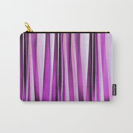 Lavender, Iris and Grape Stripy Pattern Carry-All Pouch