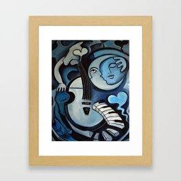 Black & Bleu Framed Art Print