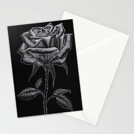 Silver Rose Stationery Cards