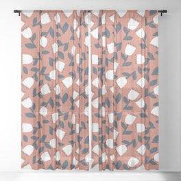 White Flowers Sheer Curtain