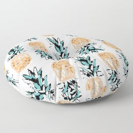 Pineapple Obsession - sky blue Floor Pillow