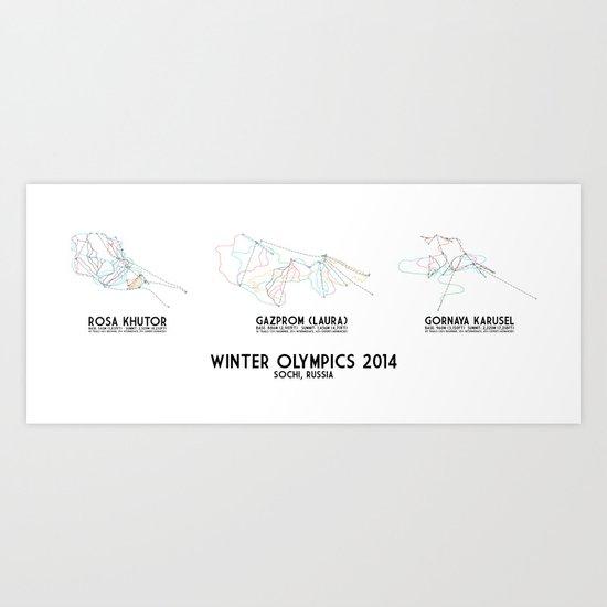 Sochi 2014 Collection - Minimalist Trail Art Art Print