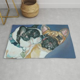 Fanci-Pants and Louie French Bulldogs Rug