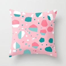 Airhead - memphis throwback retro vintage pastel pink palm springs socal california dreamer pop art Throw Pillow
