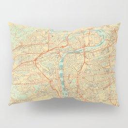 Prague Map Retro Pillow Sham