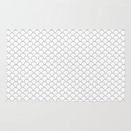 Geometric Black and White Scales Rug
