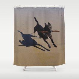 Wonder Dog Shower Curtain