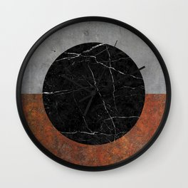 Abstract - Marble, Concrete, Rusted Iron Wall Clock