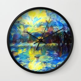 van Gogh Tribute: Sunrise Wall Clock