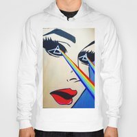 floyd Hoodies featuring Pink Floyd by Gabrielle Wall