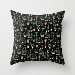 Plant Witch Throw Pillow
