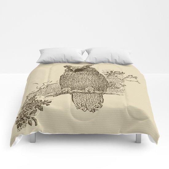 Vintage Owl Comforters
