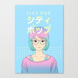 City Pop Girl Canvas Print